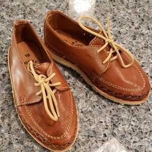 Toddler boys leather shoes